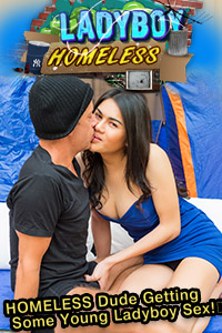 hobo by Aob homeless fucked ladyboy