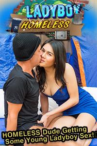 hobo by Aob homeless fucked ladyboy